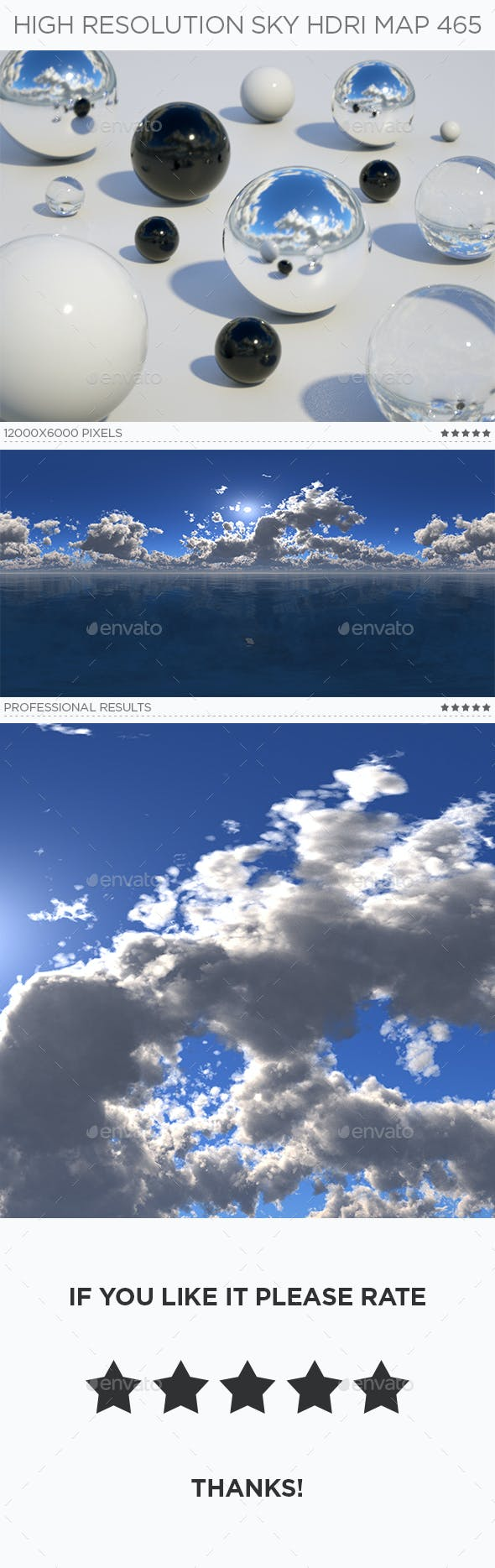 High Resolution Sky HDRi Map 465 - 3DOcean Item for Sale