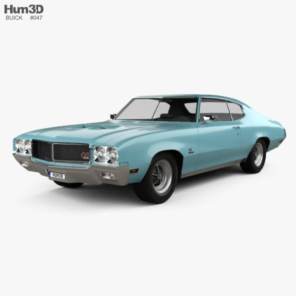 Buick GS 455 Stage 1 coupe 1970 - 3DOcean Item for Sale