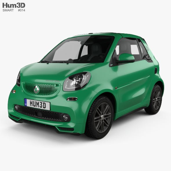 Smart ForTwo Brabus Electric Drive cabriolet 2017 - 3DOcean Item for Sale