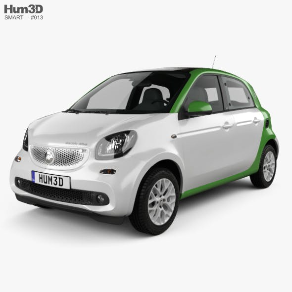 Smart ForFour Electric Drive 2017 - 3DOcean Item for Sale