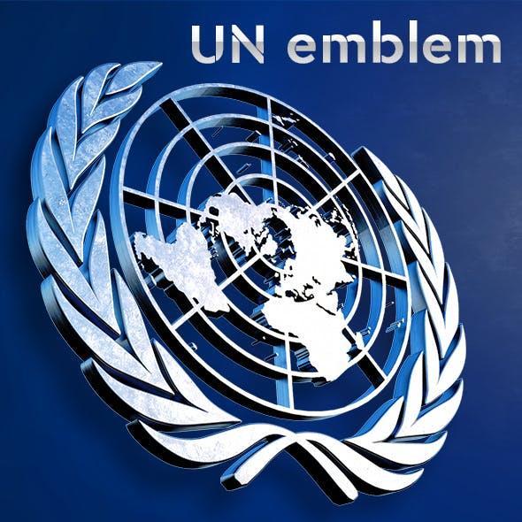 3D UN emblem _United_Nations - 3DOcean Item for Sale