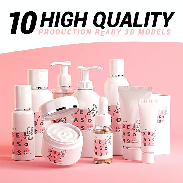 Cosmetic beauty care product containers