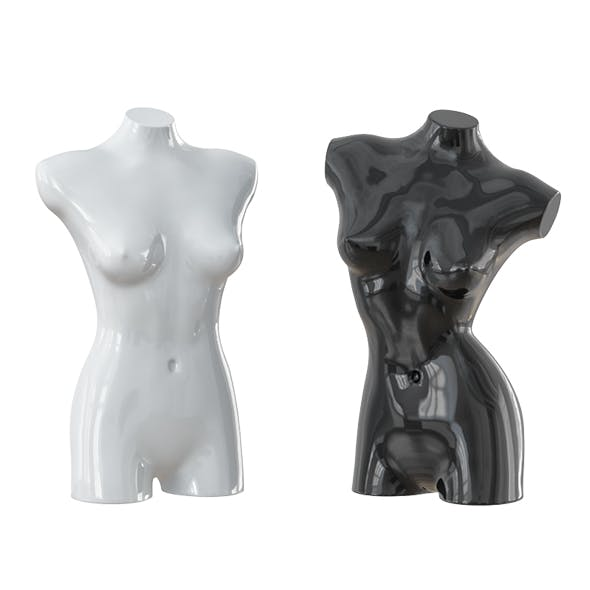 Black and white female mannequin 08 - 3DOcean Item for Sale