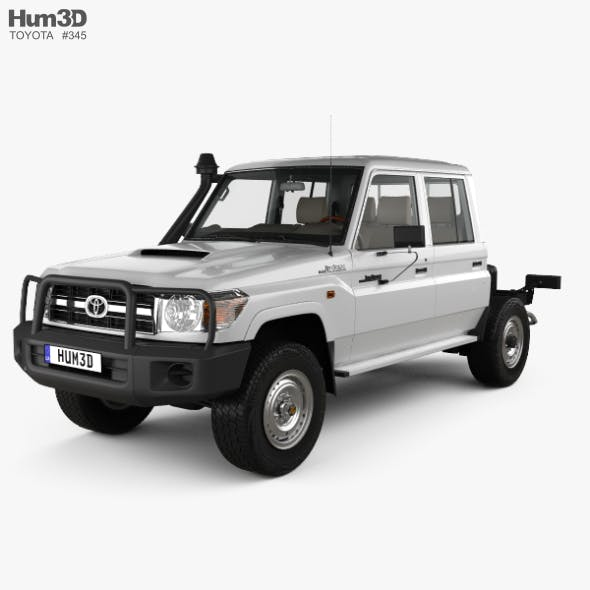 Toyota Land Cruiser (VDJ79R) Double Cab Chassis with HQ interior 2012 - 3DOcean Item for Sale