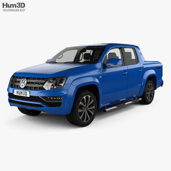 Volkswagen Amarok Crew Cab Aventura with HQ interior 2016 - 3DOcean Item for Sale