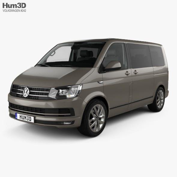Volkswagen Transporter (T6) Multivan with HQ interior 2016 - 3DOcean Item for Sale