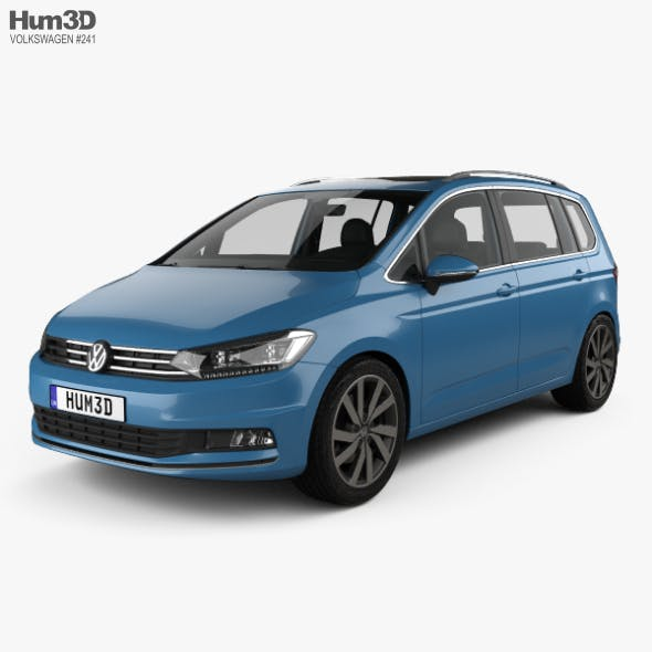 Volkswagen Touran with HQ interior 2015 - 3DOcean Item for Sale