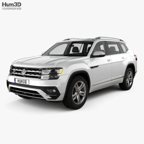 Volkswagen Atlas R Line with HQ interior 2017 - 3DOcean Item for Sale