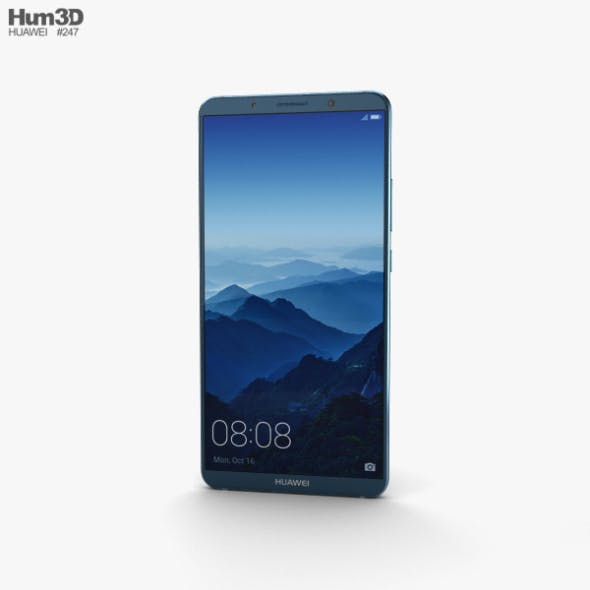 Huawei Mate 10 Pro Midnight Blue - 3DOcean Item for Sale