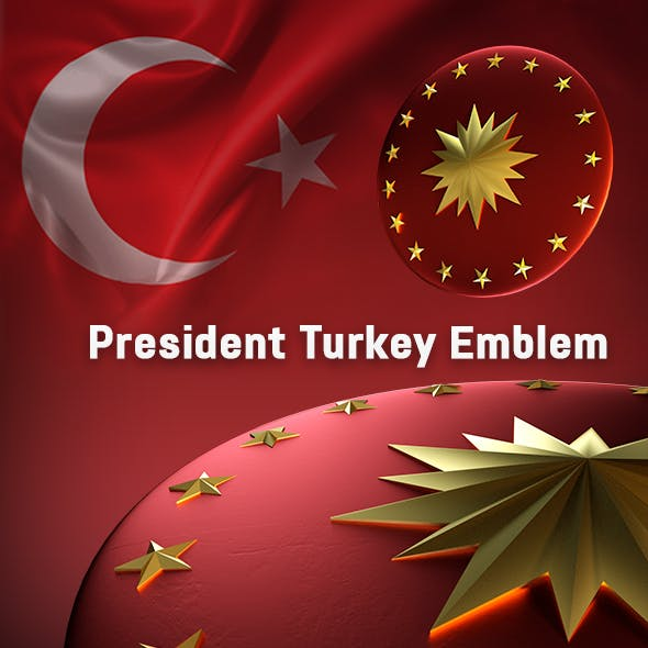 3D President of Turkey Emblem