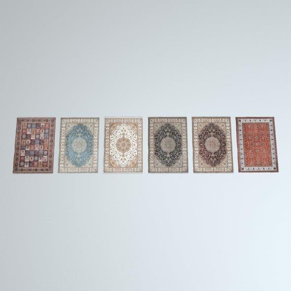 6 Scottish Rugs - 3DOcean Item for Sale