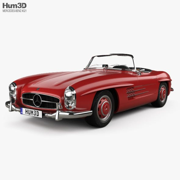 Mercedes-Benz 300 SL with HQ interior 1957 - 3DOcean Item for Sale