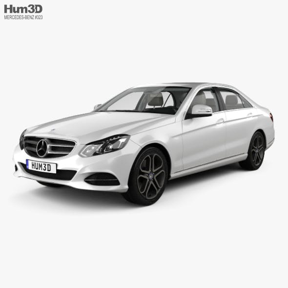 Mercedes-Benz E-class (W212) sedan with HQ interior 2014 - 3DOcean Item for Sale
