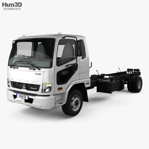 Mitsubishi Fuso Fighter (1024) Chassis Truck with HQ interior 2017 - 3DOcean Item for Sale