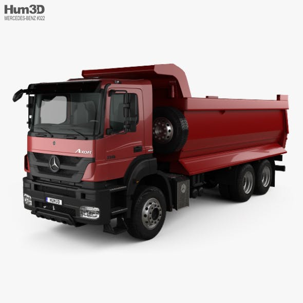 Mercedes-Benz Axor Tipper Truck with HQ interior 2005 - 3DOcean Item for Sale