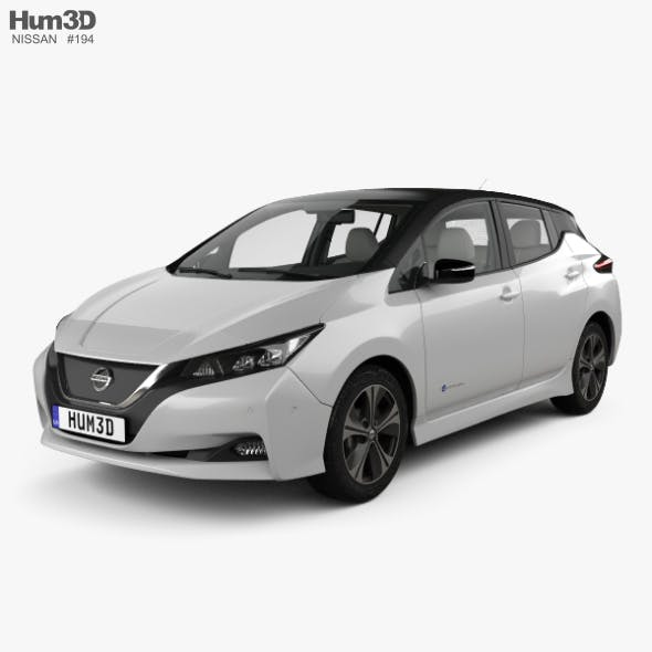 Nissan Leaf with HQ interior 2018 - 3DOcean Item for Sale