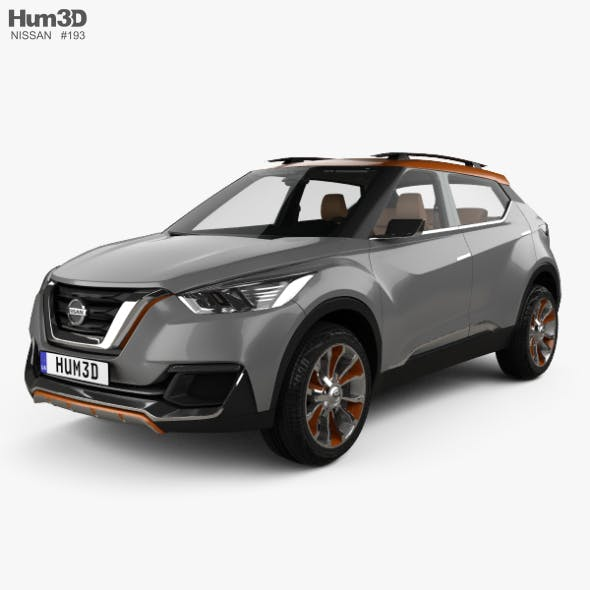 Nissan Kicks concept with HQ interior 2014 - 3DOcean Item for Sale