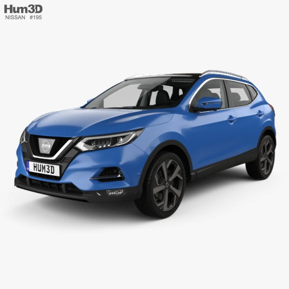 Nissan Qashqai with HQ interior 2017 - 3DOcean Item for Sale