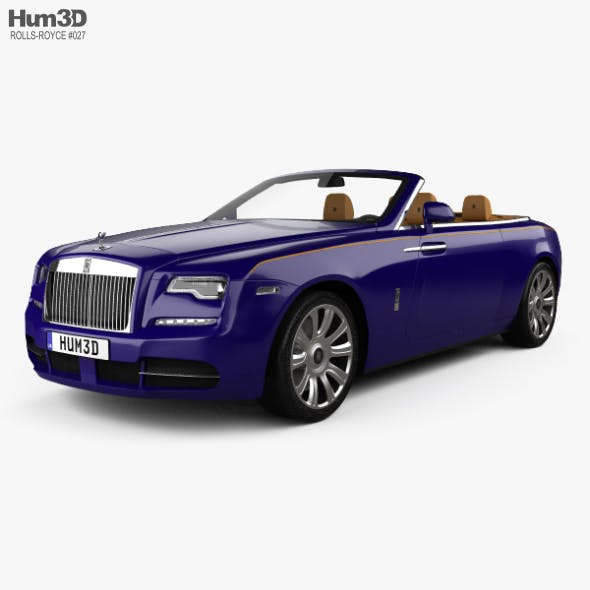 Rolls-Royce Dawn with HQ interior 2017 - 3DOcean Item for Sale