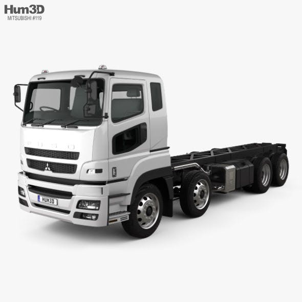 Mitsubishi Fuso Heavy Chassis Truck with HQ interior 2017 - 3DOcean Item for Sale