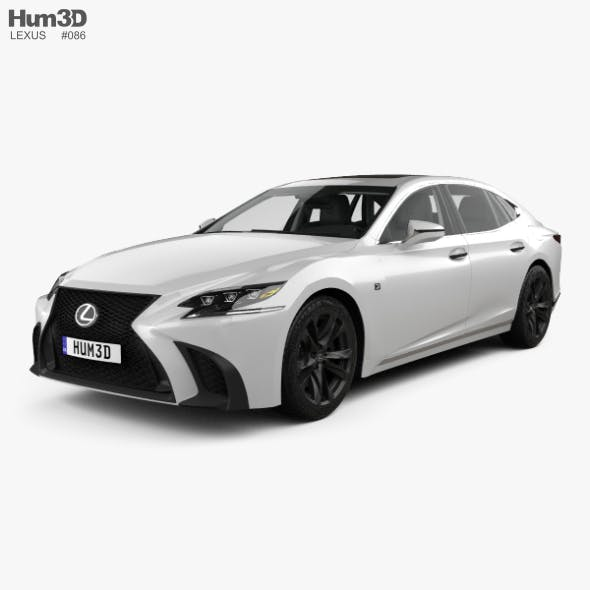 Lexus LS (XF50) F Sport with HQ interior 2018 - 3DOcean Item for Sale