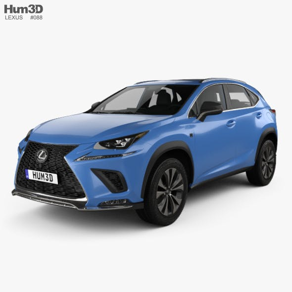 Lexus NX F sport with HQ interior 2017 - 3DOcean Item for Sale