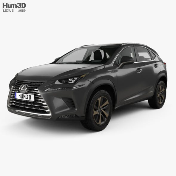 Lexus NX hybrid with HQ interior 2017 - 3DOcean Item for Sale