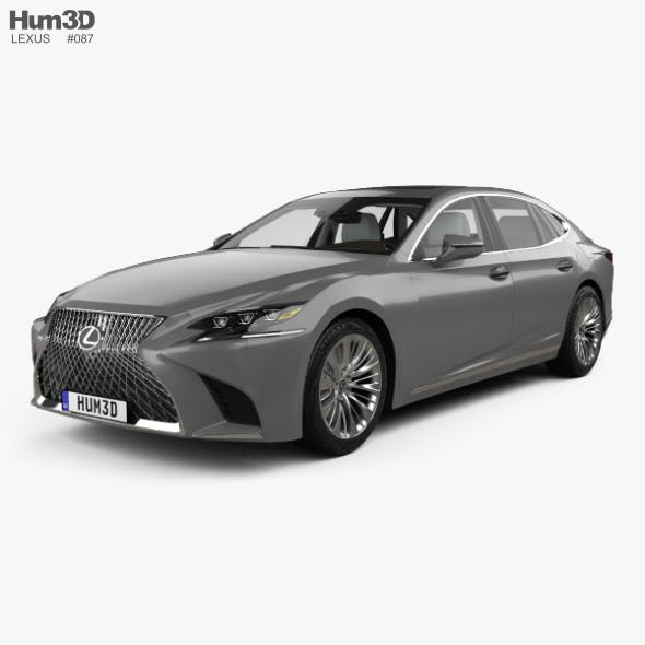 Lexus LS (XF50) with HQ interior 2017 - 3DOcean Item for Sale