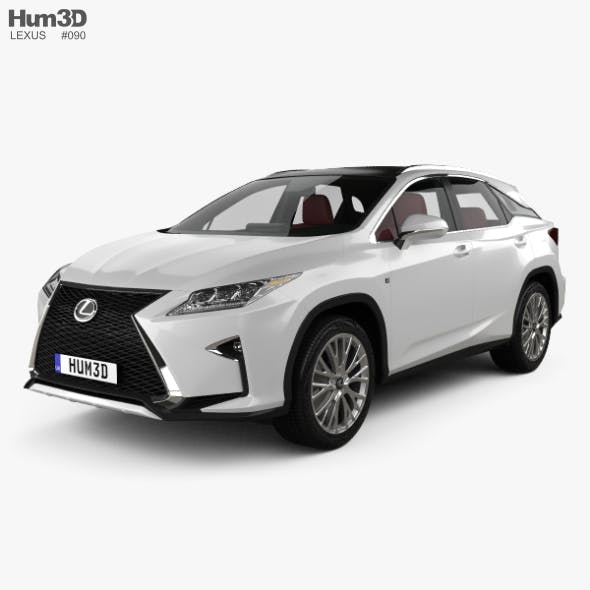 Lexus RX F sport with HQ interior 2016 - 3DOcean Item for Sale