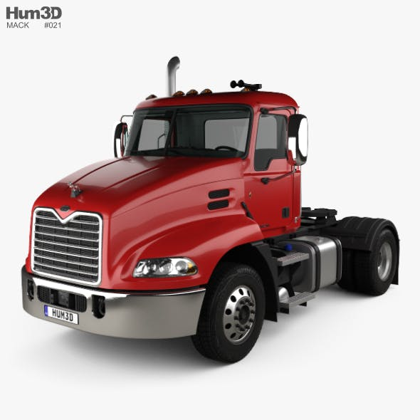 Mack Pinnacle Day Cab Tractor Truck with HQ interior 2011 - 3DOcean Item for Sale