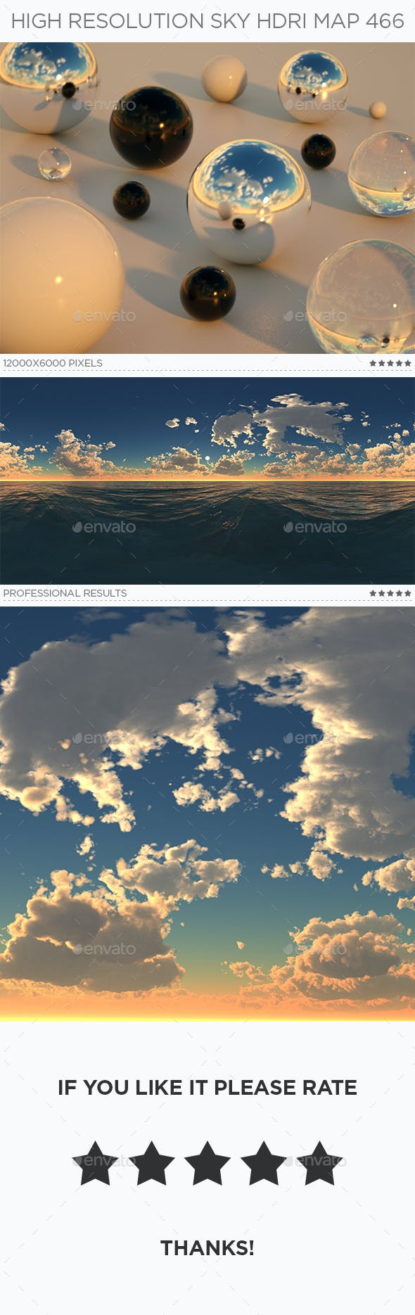 High Resolution Sky HDRi Map 466 - 3DOcean Item for Sale