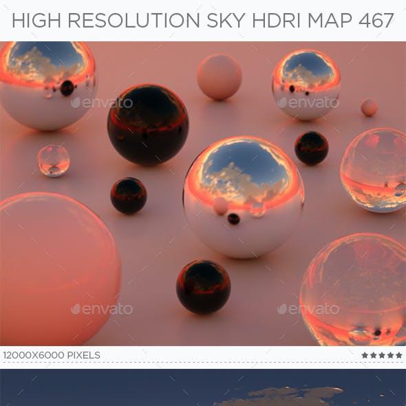 High Resolution Sky HDRi Map 467