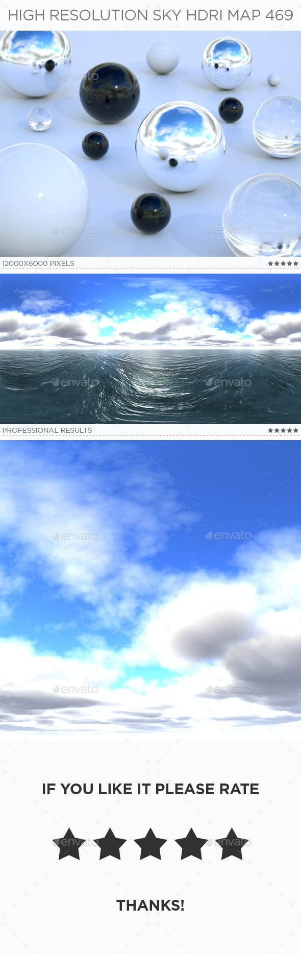 High Resolution Sky HDRi Map 469 - 3DOcean Item for Sale