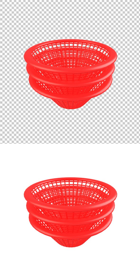 Red Basket - 3DOcean Item for Sale