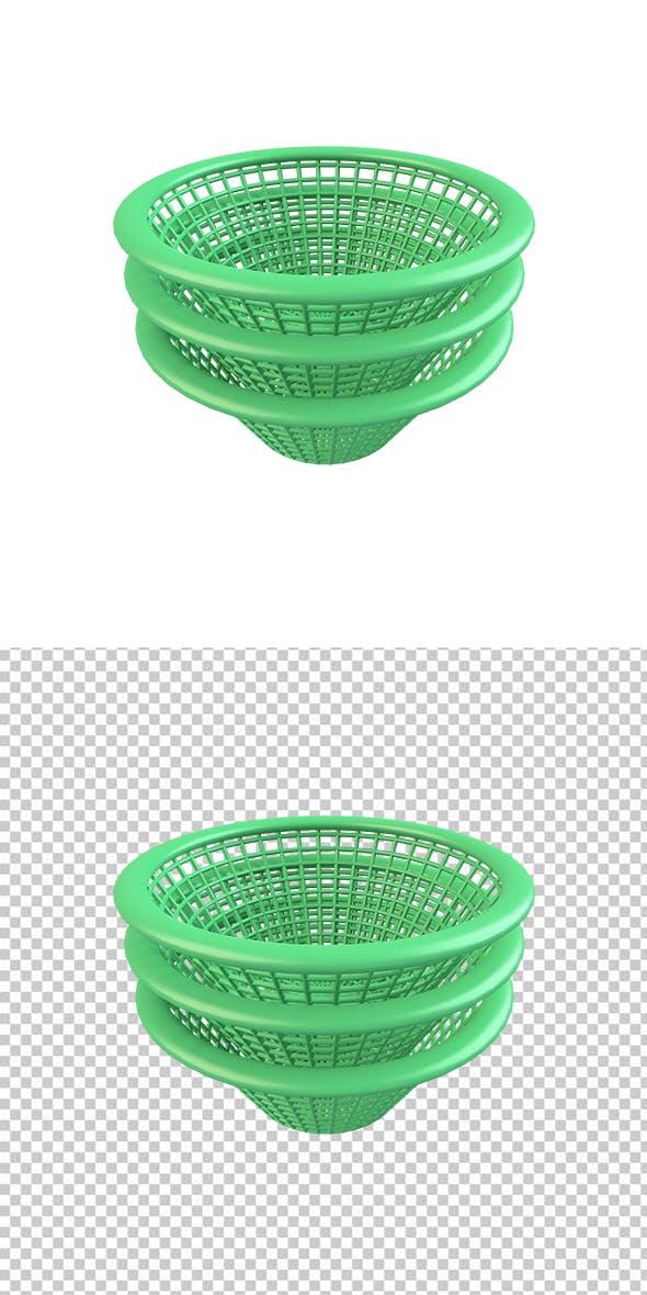 Green Basket - 3DOcean Item for Sale