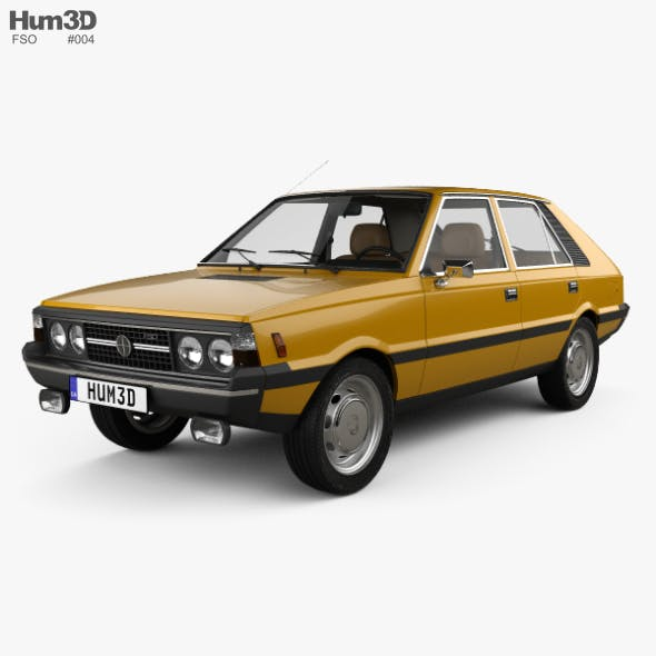 FSO Polonez with HQ interior 1978 - 3DOcean Item for Sale