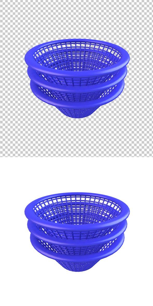 Blue Basket - 3DOcean Item for Sale