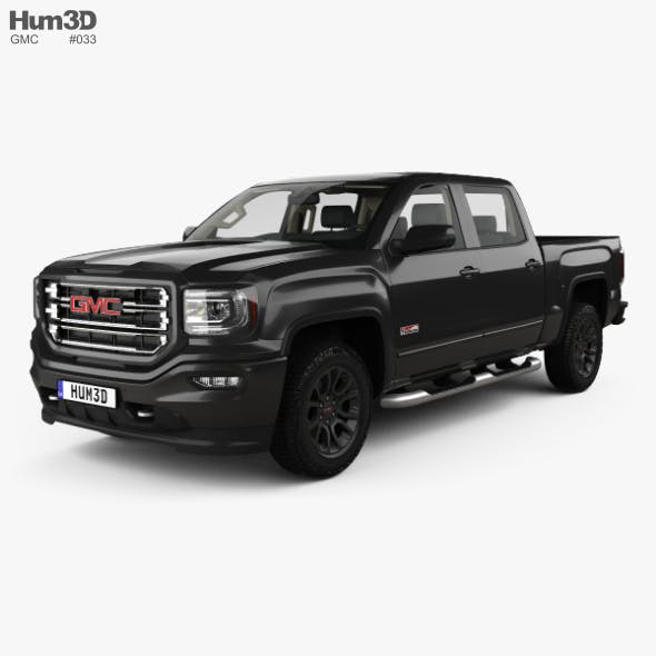 GMC Sierra 1500 Crew Cab Short Box AllTerrain with HQ interior 2017 - 3DOcean Item for Sale