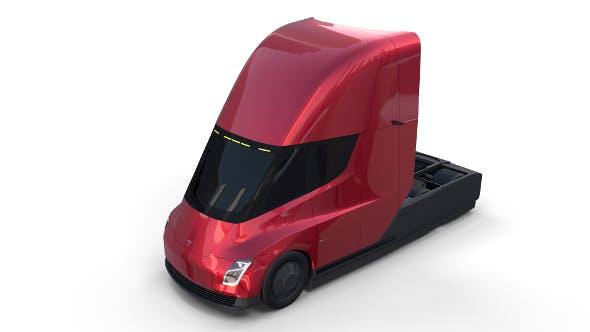Tesla Semi Truck Red - 3DOcean Item for Sale