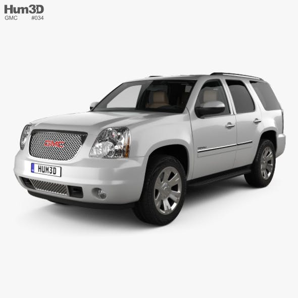 GMC Yukon Denali with HQ interior 2012 - 3DOcean Item for Sale