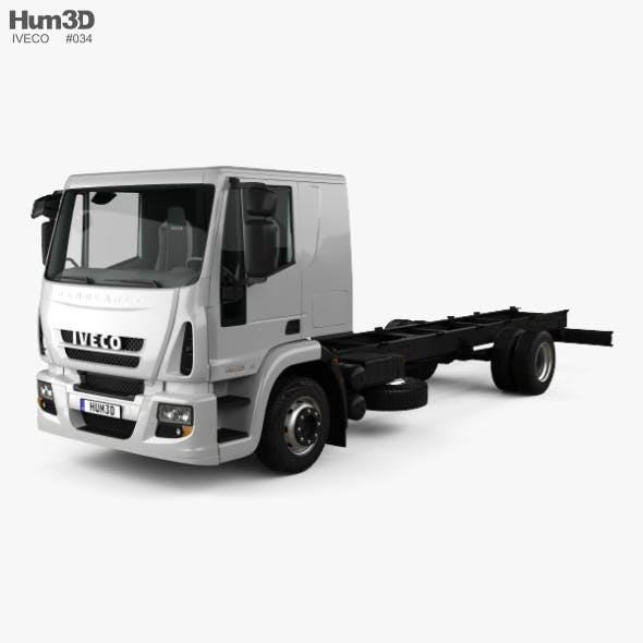 Iveco EuroCargo Chassis Truck (140E-E25) with HQ interior 2013 - 3DOcean Item for Sale