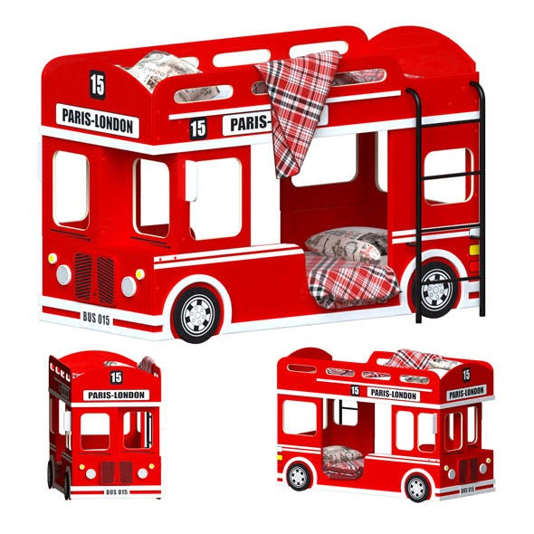 London Bus Bed - 3DOcean Item for Sale