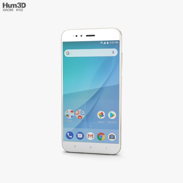 Xiaomi Mi A1 Gold - 3DOcean Item for Sale