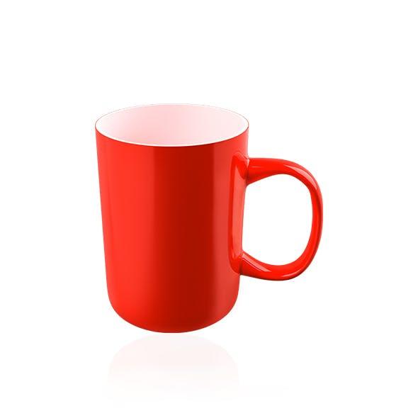 Realistic 3D Red Mug