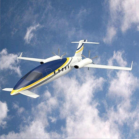 Avanti Piaggio P180 private airplane - 3DOcean Item for Sale