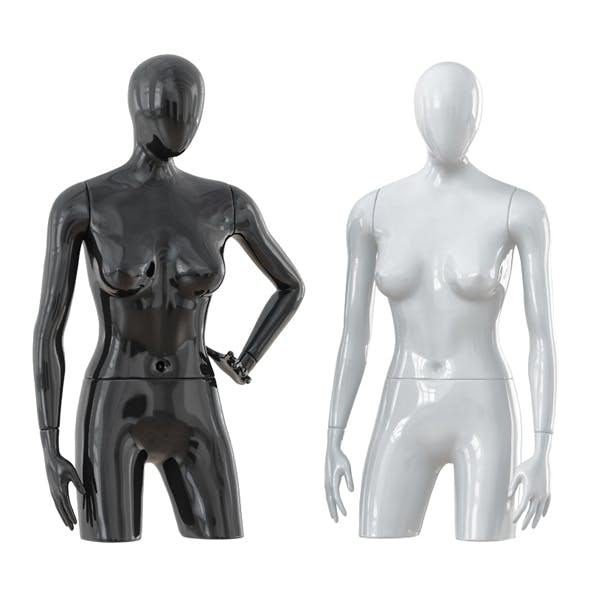Abstract female mannequin 10 - 3DOcean Item for Sale