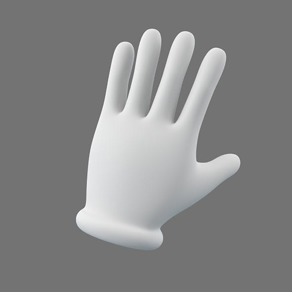 Cartoon Glove Hands Low Poly – 5 fingers