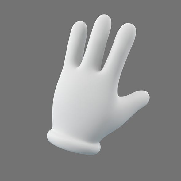 Cartoon Glove Hands Low Poly – 4 fingers
