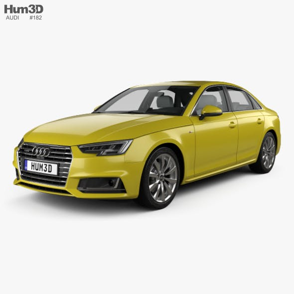 Audi A4 (B9) S-line saloon with HQ interior 2016 - 3DOcean Item for Sale