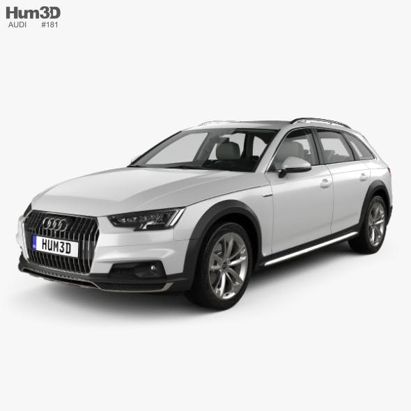 Audi A4 (B9) Allroad with HQ interior 2017 - 3DOcean Item for Sale